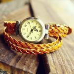 Retro Vintage Woven Bracelet Watch