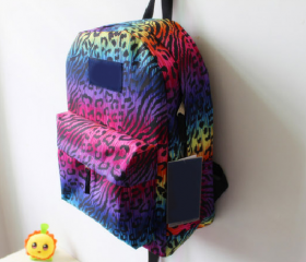 cool Gradient/colorful retro mint Blue Leopard VS Backpack/bag