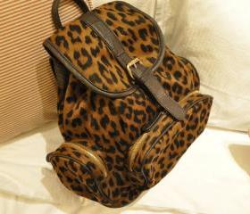 cute cool fashion Mint retro Leopard VS Backpack/bag