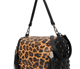 cute cool fashion pu Leopard rivet Backpack/bag