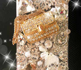 Perfume bag rivet dancing girl case for iphone 4/4s