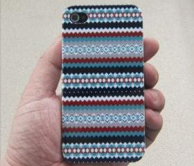 [gryxh3100521]Tribal Hybrid Impact pin stripe Case for iphone 4/4s