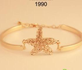[gryxh31200081]Sweet rhinestone starfish sea star bracelet