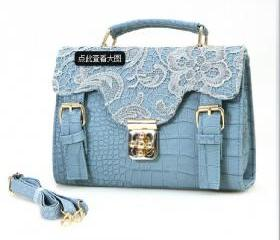 lace Alligator Pattern fashion hand bag